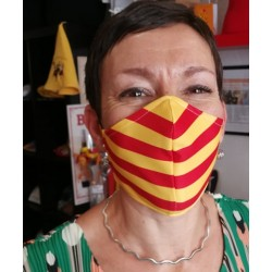 Catalan flag mask