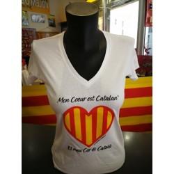 Tee-shirt Mon coeur est catalan