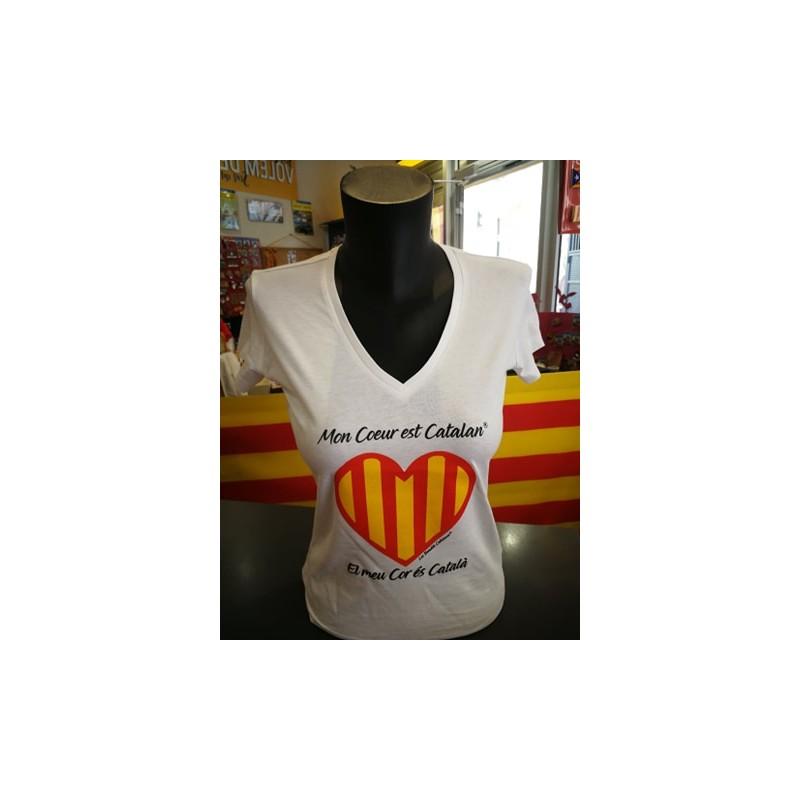 Tee-shirt Mon cœur est catalan