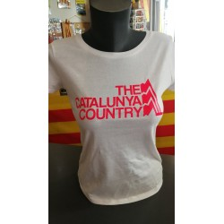 Tee-shirt woman white The Catalunya Country