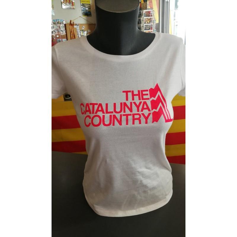 Tee-shirt femme blanc The Catalunya Country