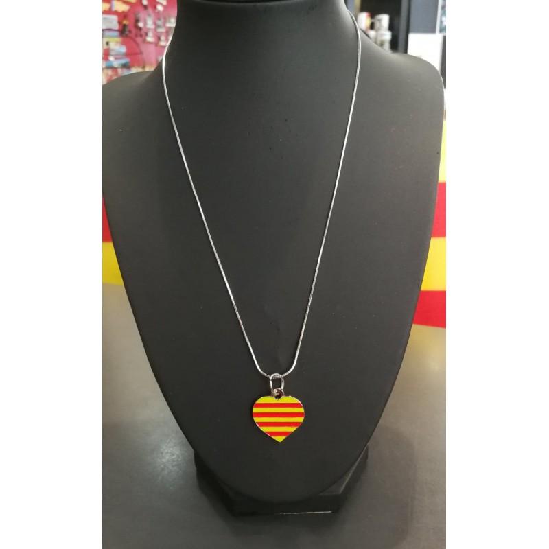 Collier cœur catalan