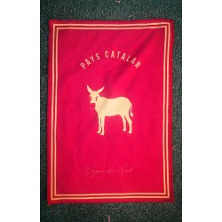Teatowel catalan donkey red...
