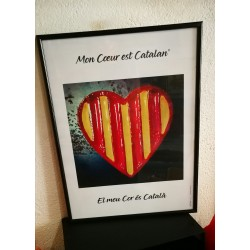Poster My heart is catalan