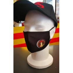 Masque Barrière noir de la république catalane