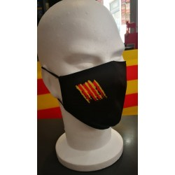 Mask with catalan flag