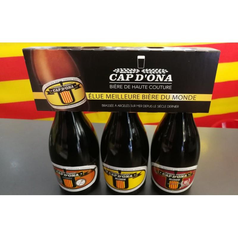 Tripack Bières Ambrée, Blonde, Spéciale