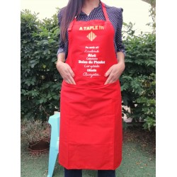 "Apron ""A taple"" red"