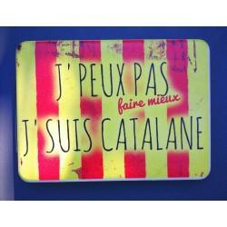 Miroir de poche J'peux pas faire mieux suis catalane