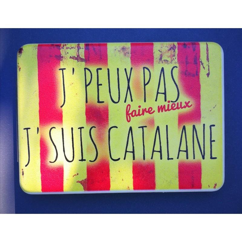 Pocket mirror J'peux pas faire mieux suis catalane