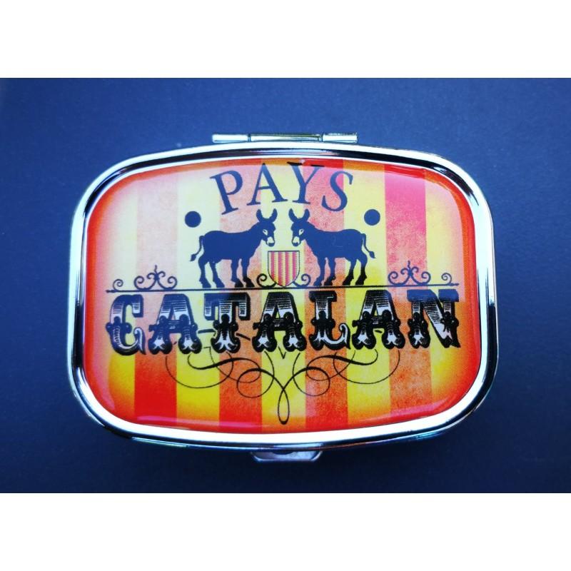Boite à pilule de poche Pays Catalan