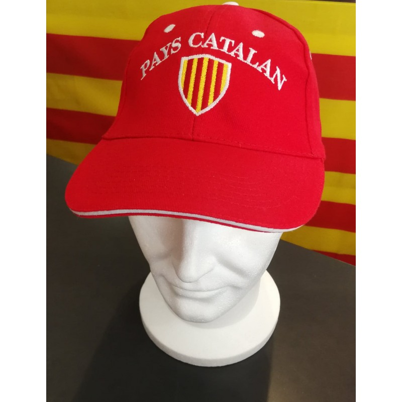 Gorra vermella Pays catalan i escut català
