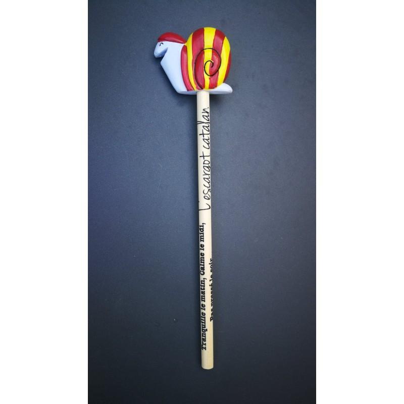 Crayon gris avec l'escargot catalan