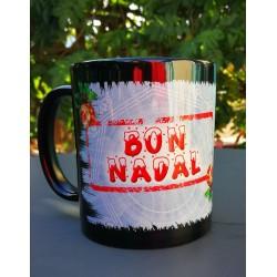 Mug noir Bon nadal