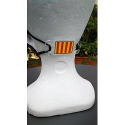Attache masque drapeau catalan