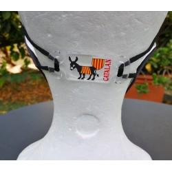Attache masque âne catalan