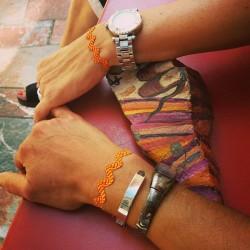Bracelet Vague d'amour sang et or