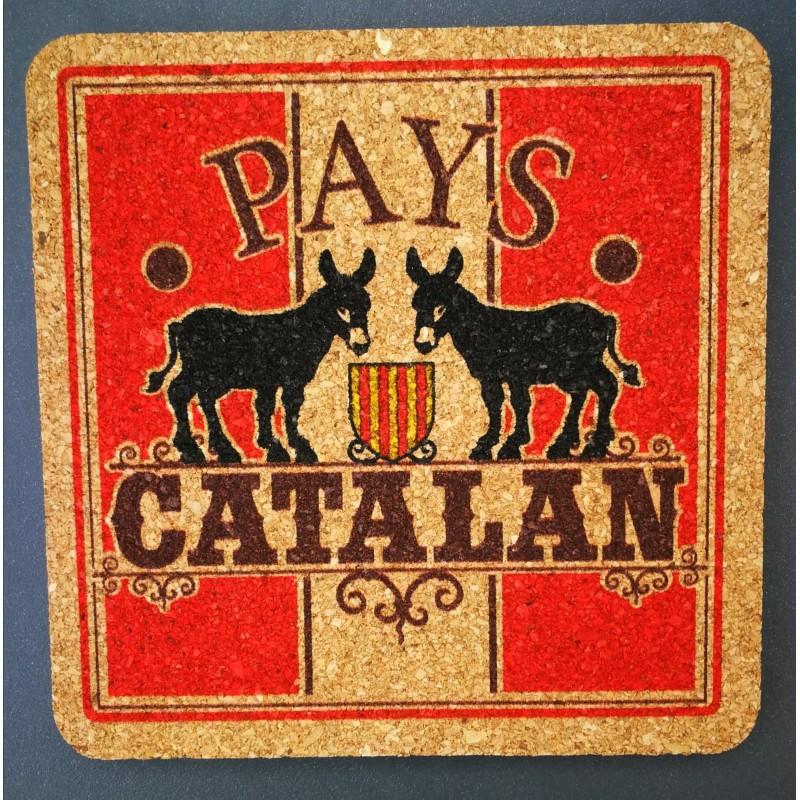 Dessous de verre en liège âne catalan