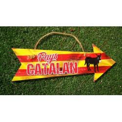 Pancarte flèche Pays Catalan