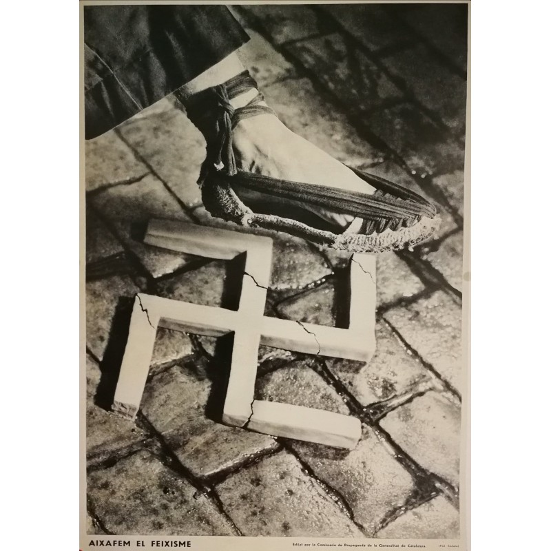 Affiche ancienne Aixafem el feixisme (Ecrasons le facisme)