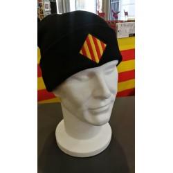 Bonnet noir drapeau catalan