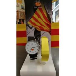 Watch catalan flag WHITE 40mm