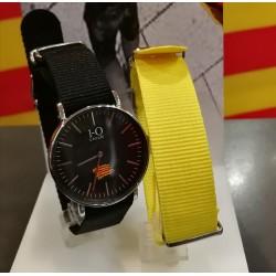 Rellotge senyera negre 40mm