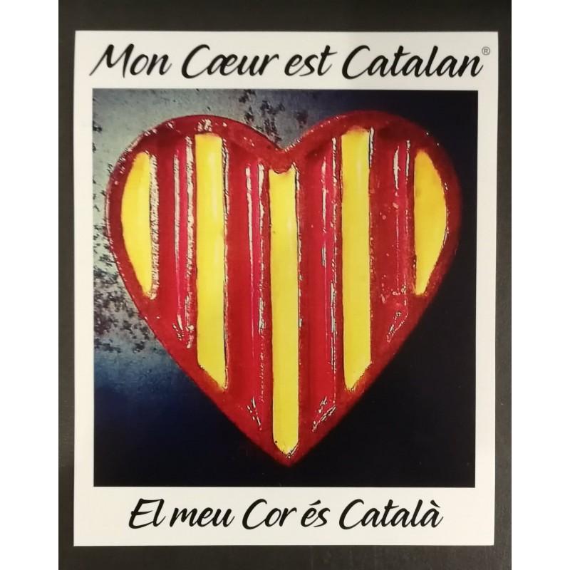 Autocollant Mon cœur est catalan des beautés catalanes