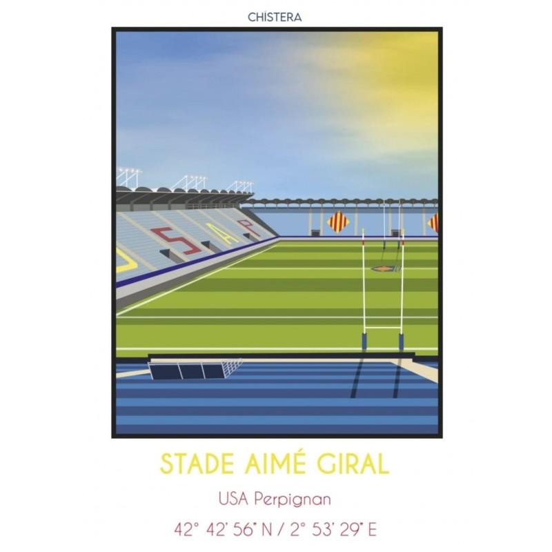 Affiche stade Aimé Giral 50x70cm