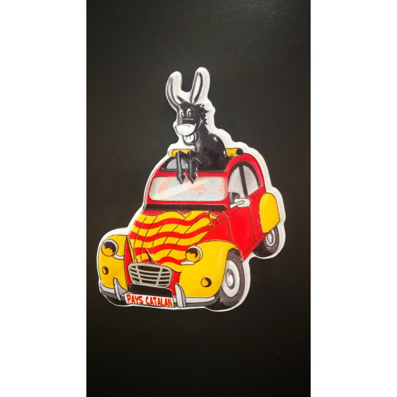 Magnet of the Catalan donkey in resin