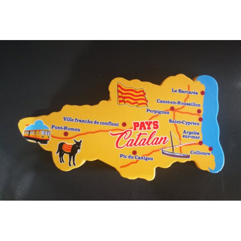 Magnet  map  Catalan country