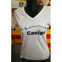 Tee-shirt  femme Canigó pulsations blanc