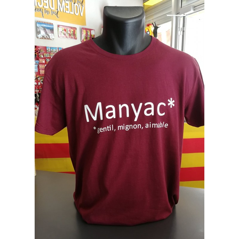 Tee-shirt MANYAC bordeaux