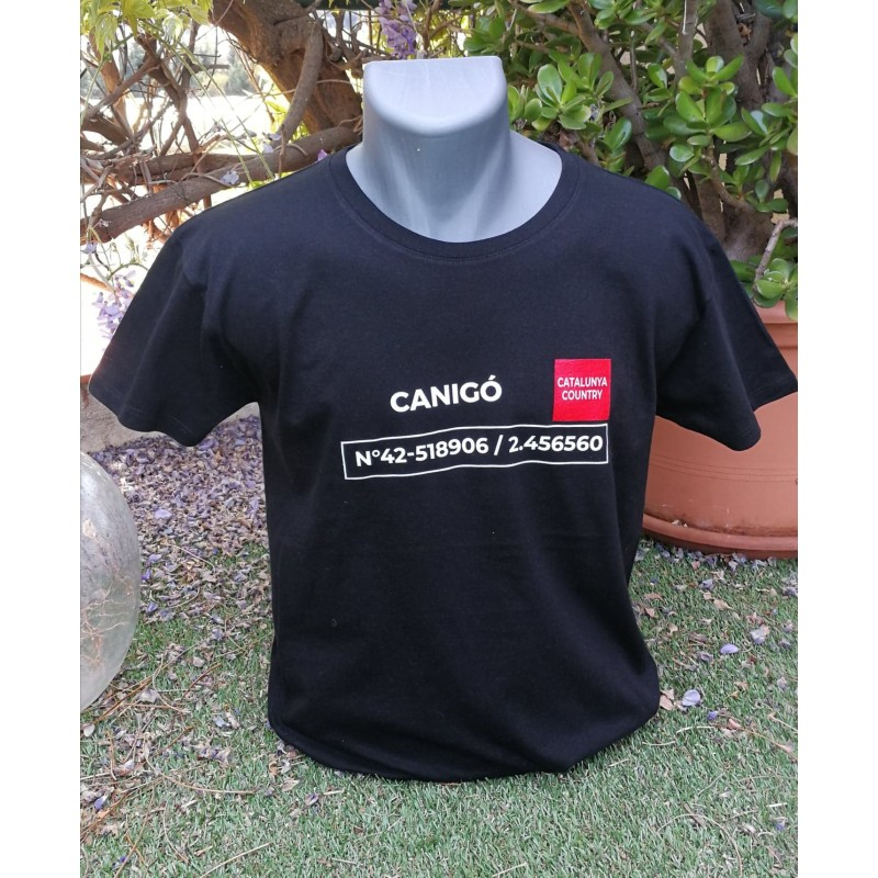 Tee-shirt black Canigó The Catalunya Country