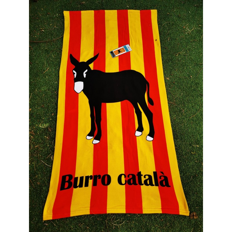 Serviette de plage âne catalan