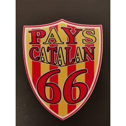 Autocollant blason Pays catalan 66