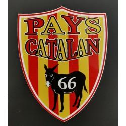 Autocollant blason Pays catalan âne