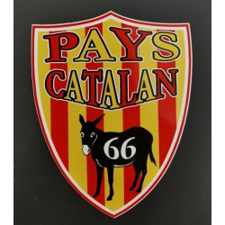 Sticker catalan flag and...