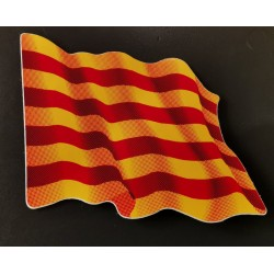 Sticker with catalan flag...