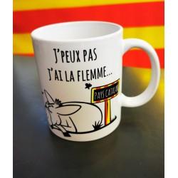 Mug J'peux pas j'ai la flemme Pays catalan