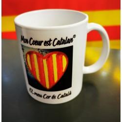 Mug Mon coeur est catalan