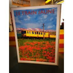Cartell del tren groc  30x40cm