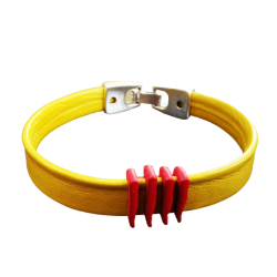 Leather Bracelet with the...
