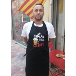 Tablier noir Un catalan ne subit pas la pression il la boit!!!