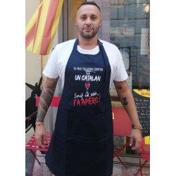Tablier bleu marine Tu peux toujours compter sur un catalan sauf ce soir... Y'a Apéro!