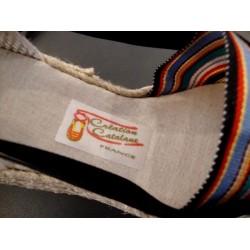 Vigatanes multicolore à talon la création catalane de Saint Laurent de Cerdans